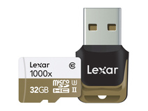 Lexar 32GB Professional UHS-II 1000x microSDHC Memory Card (Class 10, U3)
