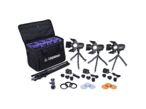 Litepanels Caliber LED Fresnel 3-Light Kit with Soft Case