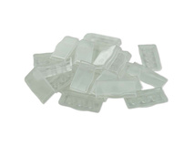 X-keys XK-A-528-R Wide Keycaps (Transparent, Pack of 10)