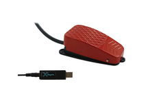 X-keys USB 3 Switch Interface with Red Commercial Foot Switch