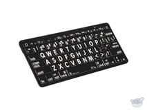 LogicKeyboard XL Print American English Bluetooth 3.0 Mini Keyboard (White on Black)