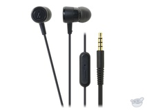Audio Technica ATH-CKL220IS In-Ear Headphones and Control for iPhone (Black)