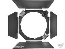 """Hensel 4 Leaf Barndoor Set with Filter Holder for 7.0"""" Reflector"""