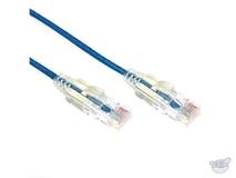 Dynamix 1M Cat6 Slimline Component Level UTP Patch Lead (Blue)