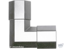Brateck CC33-JS 33x18mm Corner Joint Silver