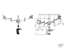 "Brateck LCD-LDT02-C024 13-27"" Dual LCD Desk Mount"