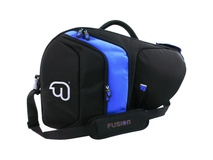 Fusion-Bags Premium French Horn Fixed-Bell Gig Bag (Black/Blue)