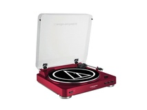 Audio Technica AT-LP60 Belt-Drive Turntable (Red)