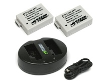 Wasabi Power Battery and Dual USB Charger for Canon LP-E8 (2-Pack)