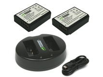 Wasabi Power Battery and Dual USB Charger for Canon LP-E10 (2-Pack)