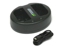 Wasabi Dual USB Charger for Canon LP-E6