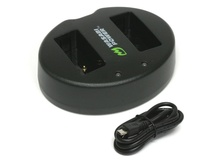Wasabi Dual USB Charger for Canon LP-E17