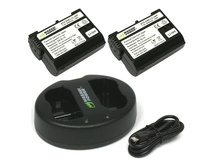 Wasabi Power Battery and Dual USB Charger for Nikon EN-EL15 (2-Pack)