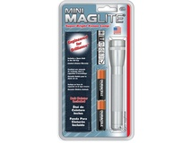 Maglite Mini Maglite 2-Cell AA Flashlight with Holster (Silver)