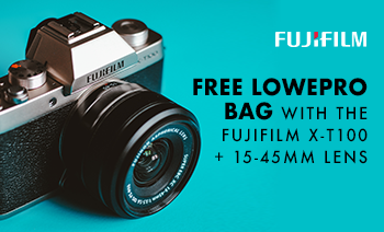 Fujifilm X-T100 + Lowepro Bag