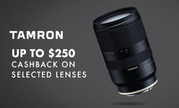 Up to $250 cashback Tamron Lenses