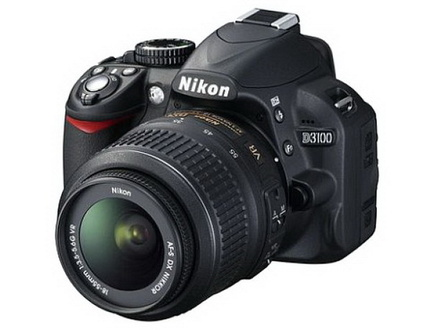 Nikon D3100 Kit including 18-55mm AF-S VR Lens and SD card