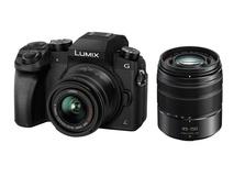 Panasonic Lumix DMC-G7 Mirrorless Digital Camera with 14-42mm and 45-150mm Kit (Black Body)