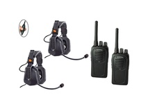 Eartec UDSC2000IL 2-User SC-1000 Two-Way Radio with Ultra Double Inline PTT Headsets