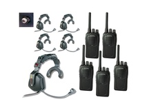 Eartec USSC5000SH 5-User SC-1000 2-Way Radio with Ultra Single Shell Mount PTT Headsets