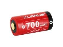 Klarus 16340 Li-Ion Rechargeable Button Top Battery (3.7V, 650mAh)