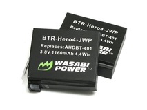 Wasabi Power Battery for GoPro Hero4 (2-Pack)