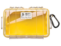 Pelican 1050 Micro Case (Yellow/Clear)