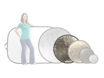 Lastolite Circular Reflector - White and Silver (95cm)