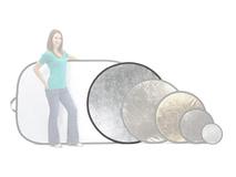 Lastolite Circular Reflector - White and Silver (120cm)