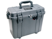 Pelican 1430 Top Loader Case without Foam (Silver)