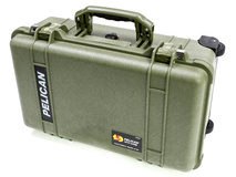 Pelican 1510 Carry on Case without Foam (Olive Drab Green)