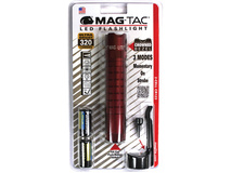 Maglite Mag-Tac LED Flashlight (Crowned Bezel, Crimson Red)