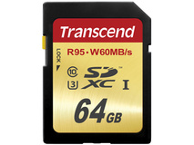 Transcend 64GB UHS-1 SDXC Memory Card (Write Speed 60 MB/s)