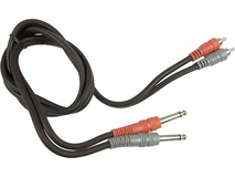 Hosa CPR-201 1/4'' to RCA Cable 1m (Molded Plugs)