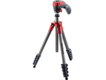 Manfrotto Compact Action Aluminium Tripod (Red)
