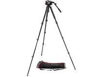 Manfrotto MVK504AQ Spreaderless Video Tripod with MVH504HD Fluid Head