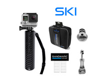SandMarc Ski Bundle handle and case for GoPro