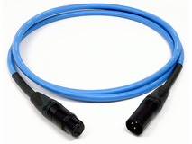 Canare 25' L-4E6S Star Quad XLRM to XLRF Microphone Cable (Blue)