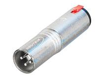 "Neutrik NA3MJ 3-Pole XLR Male to Stereo 1/4"" Locking Jack Adapter"