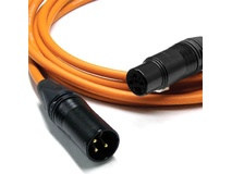 Canare L-4E6S Star Quad XLRM to XLRF Microphone Cable - 6' (Orange)