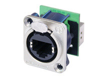 Neutrik NE8FDP - EtherCon Series RJ45 Feedthrough Receptacle (Silver)
