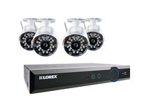 Lorex LH038 Eco Blackbox3 8-Ch 1TB HDD DVR and Four Wireless Outdoor Cameras
