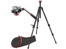 Manfrotto MVH502A Video Head with 755CX3 Video Tripod Legs & Bag