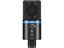 IK Multimedia iRig Mic Studio, Portable Large-Diaphragm Digital Microphone (Black)