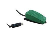 X-keys USB 3 Switch Interface with Green Commercial Foot Switch