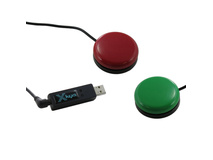 X-keys USB 3 Switch Interface with Red and Green Orby Switch