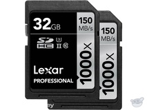 Lexar 32GB Professional 1000x UHS-II SDHC Memory Card (2-Pack, Class 10, UHS Speed Class 3)