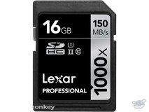 Lexar 16GB Professional 1000x UHS-II SDHC Memory Card (Class 10, UHS Speed Class 3)