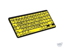 LogicKeyboard XL Print American English Bluetooth 3.0 Mini Keyboard (Black on Yellow)