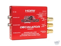 DECIMATOR 2 3G/HD/SD-SDI to HDMI Converter with Built-In NTSC/PAL Downscaler & Analog Audio Outputs